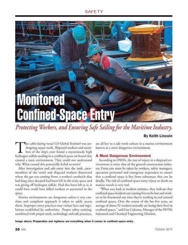 Marine News Magazine, page 20,  Oct 2014