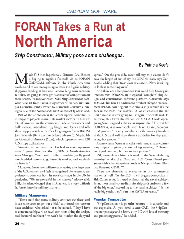Marine News Magazine, page 24,  Oct 2014
