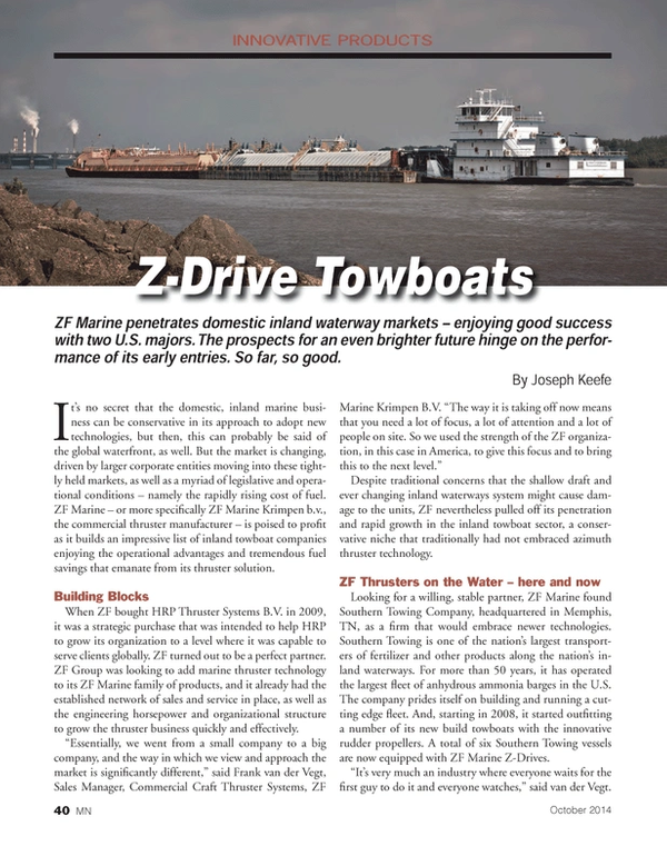 Marine News Magazine, page 40,  Oct 2014