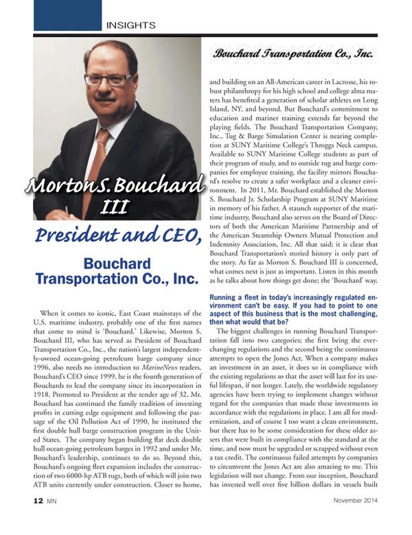 Marine News Magazine, page 12,  Nov 2014