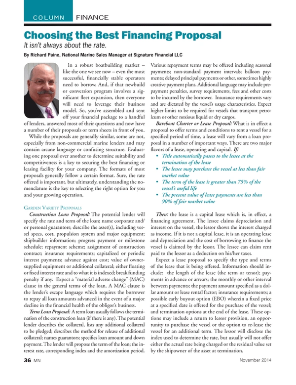 Marine News Magazine, page 36,  Nov 2014