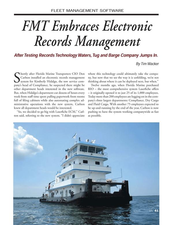 Marine News Magazine, page 41,  Dec 2014