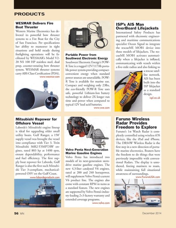 Marine News Magazine, page 56,  Dec 2014