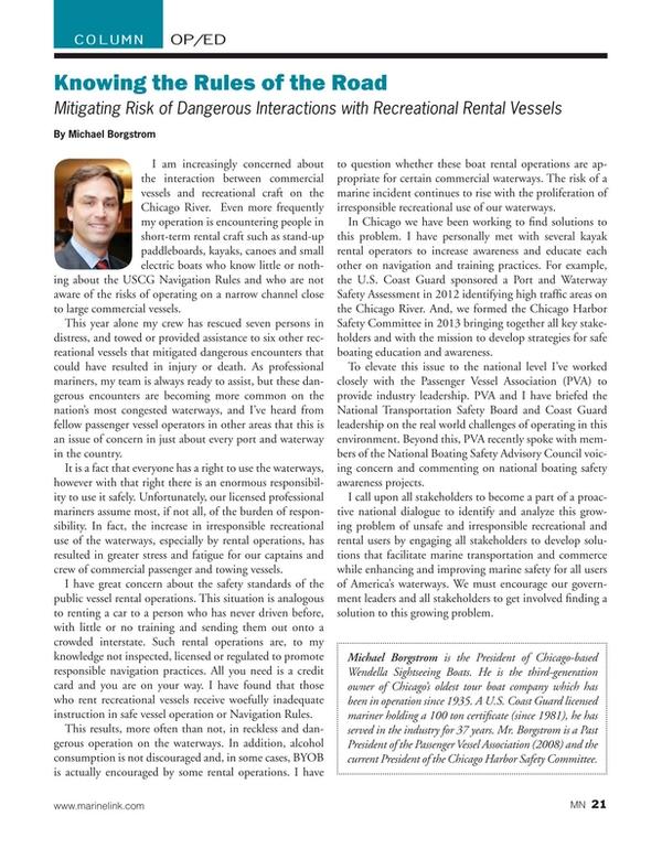 Marine News Magazine, page 21,  Jan 2015