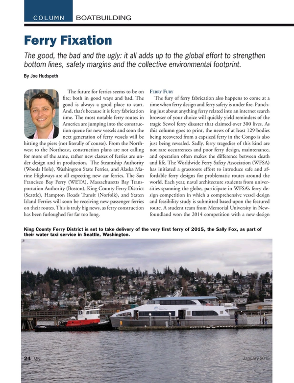 Marine News Magazine, page 24,  Jan 2015