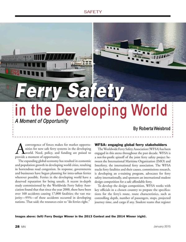 Marine News Magazine, page 28,  Jan 2015