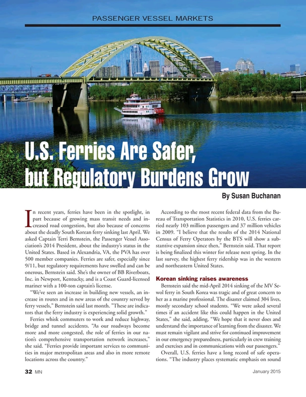 Marine News Magazine, page 32,  Jan 2015