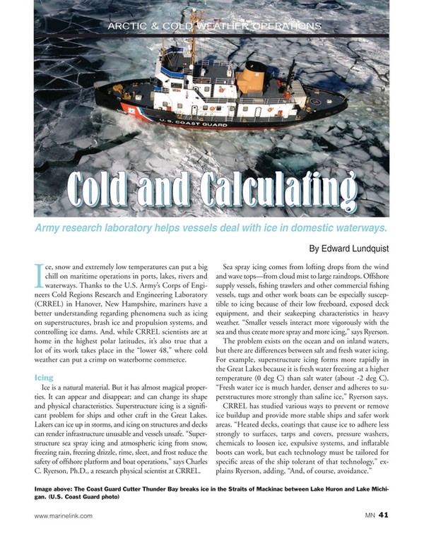 Marine News Magazine, page 41,  Jan 2015