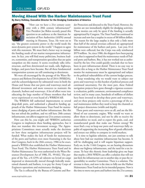 Marine News Magazine, page 21,  Feb 2015