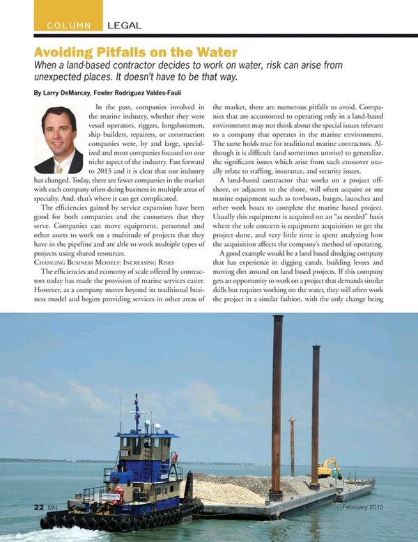 Marine News Magazine, page 22,  Feb 2015