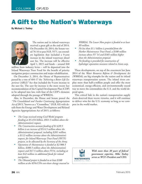 Marine News Magazine, page 26,  Feb 2015
