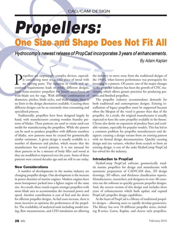 Marine News Magazine, page 28,  Feb 2015