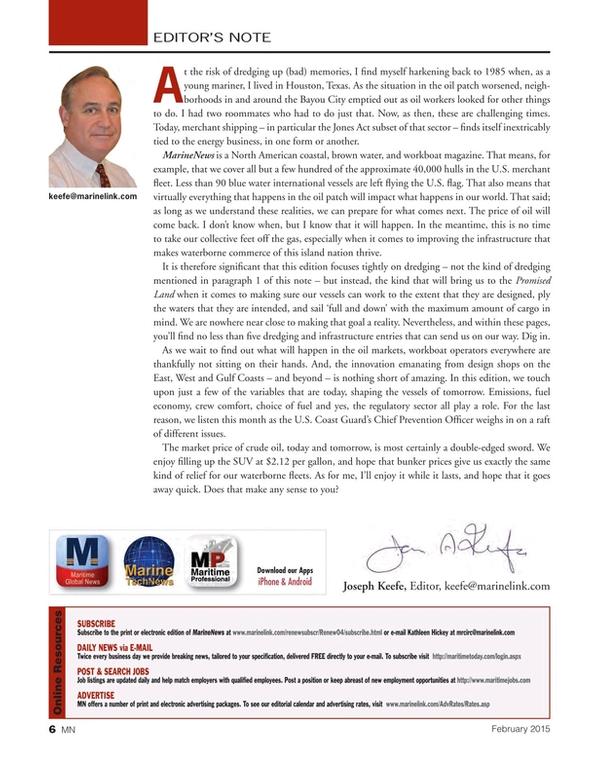 Marine News Magazine, page 6,  Feb 2015