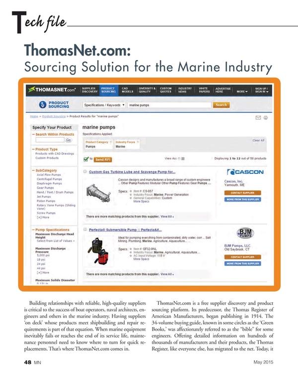 Marine News Magazine, page 48,  May 2015