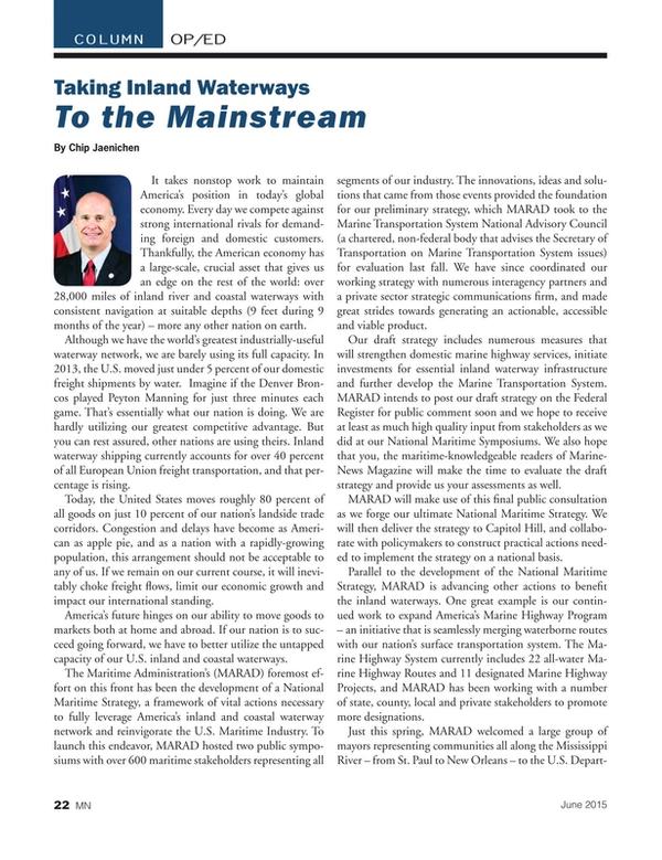 Marine News Magazine, page 22,  Jun 2015