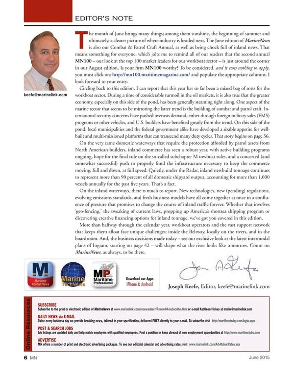 Marine News Magazine, page 6,  Jun 2015