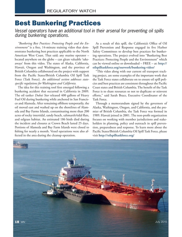 Marine News Magazine, page 18,  Jul 2015