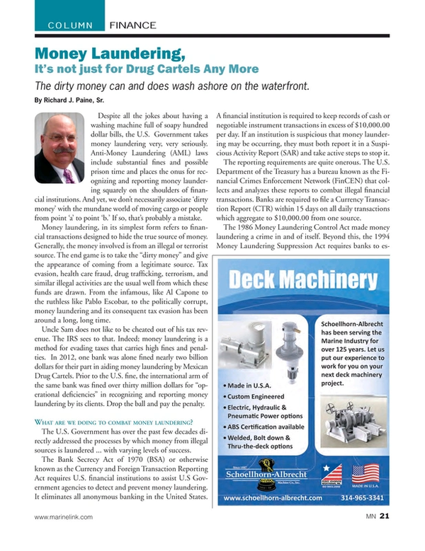 Marine News Magazine, page 21,  Jul 2015