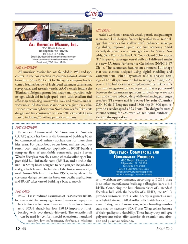 Marine News Magazine, page 10,  Aug 2015