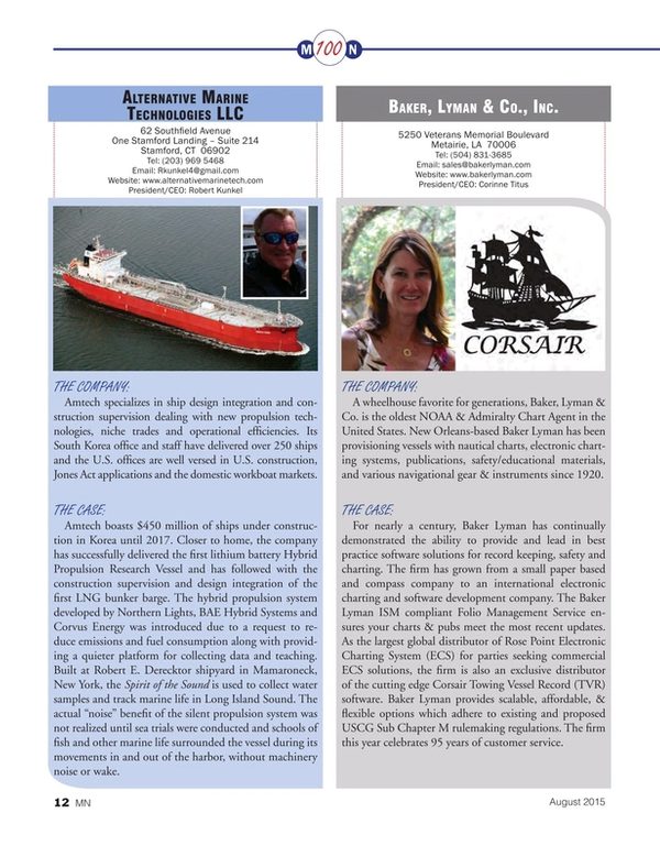 Marine News Magazine, page 12,  Aug 2015