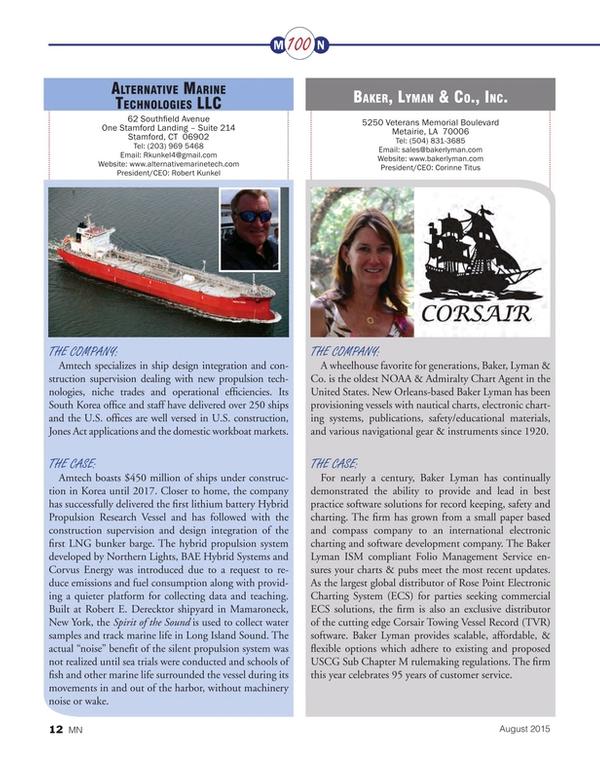 Marine News Magazine, page 12,  Aug 2015