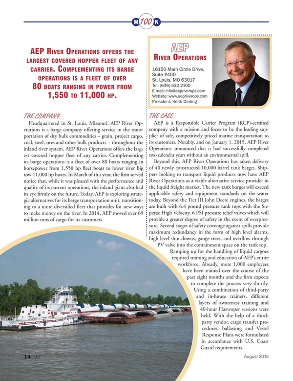 Marine News Magazine, page 14,  Aug 2015