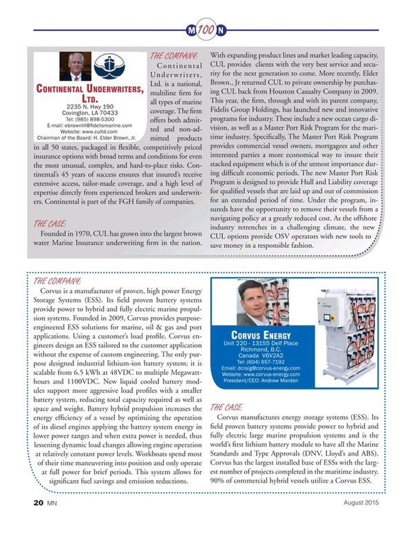 Marine News Magazine, page 20,  Aug 2015