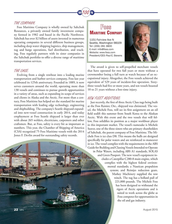 Marine News Magazine, page 22,  Aug 2015