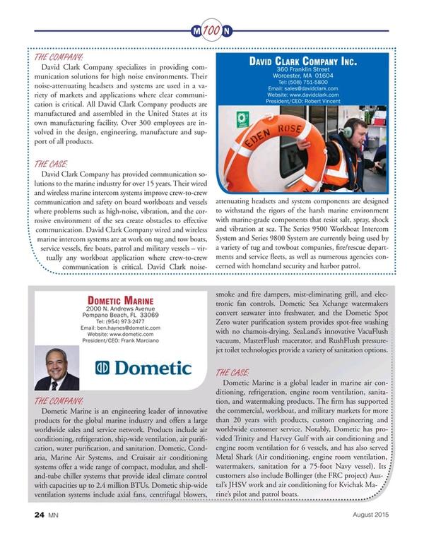 Marine News Magazine, page 24,  Aug 2015
