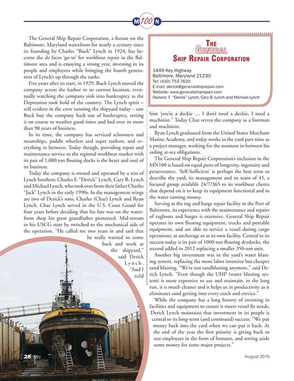 Marine News Magazine, page 28,  Aug 2015