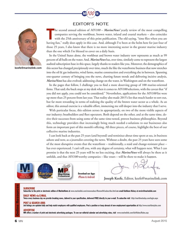 Marine News Magazine, page 6,  Aug 2015