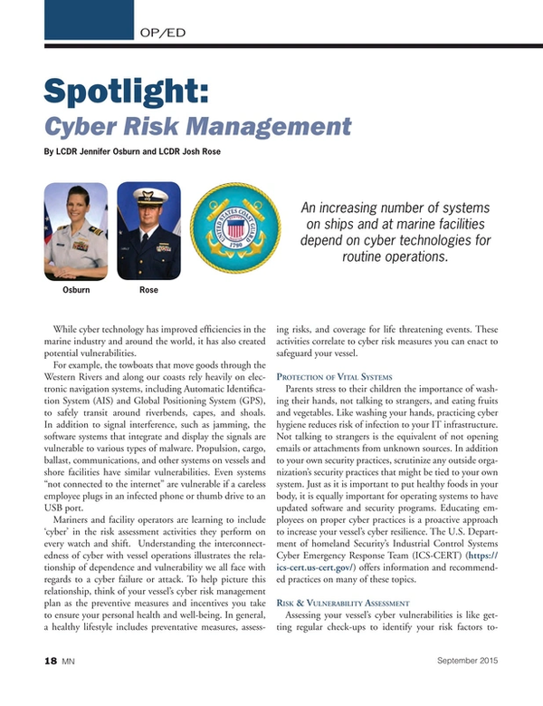 Marine News Magazine, page 18,  Sep 2015