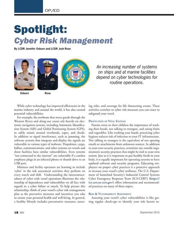 Marine News Magazine, page 18,  Sep 2015