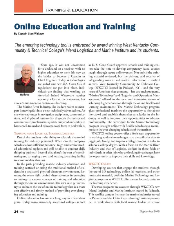 Marine News Magazine, page 24,  Sep 2015