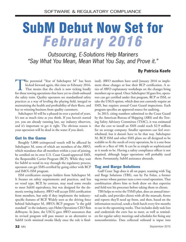 Marine News Magazine, page 32,  Sep 2015