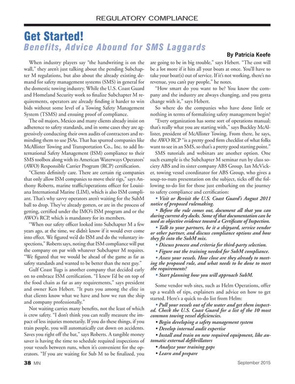 Marine News Magazine, page 38,  Sep 2015