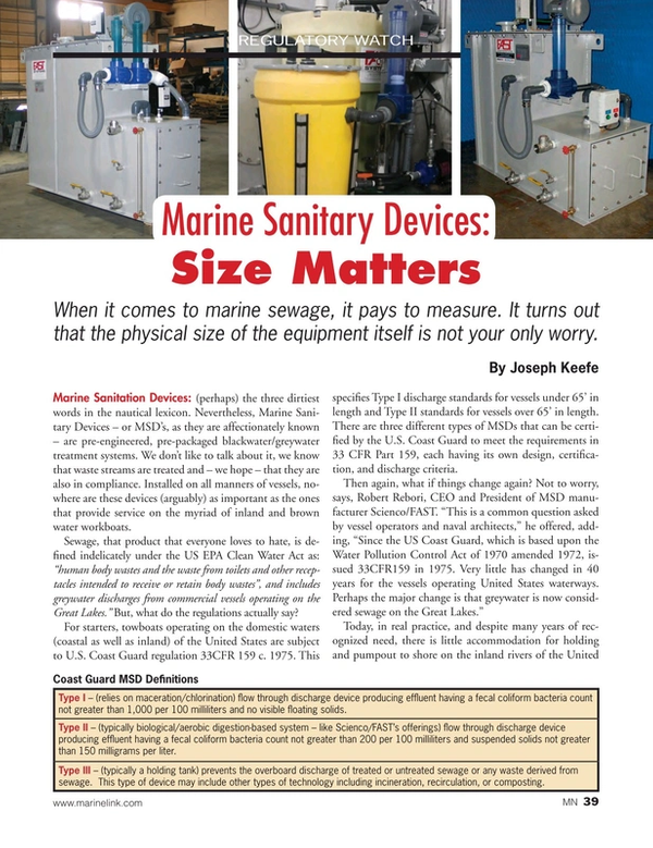 Marine News Magazine, page 39,  Sep 2015