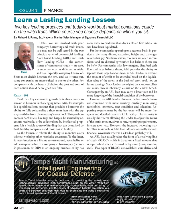 Marine News Magazine, page 22,  Oct 2015