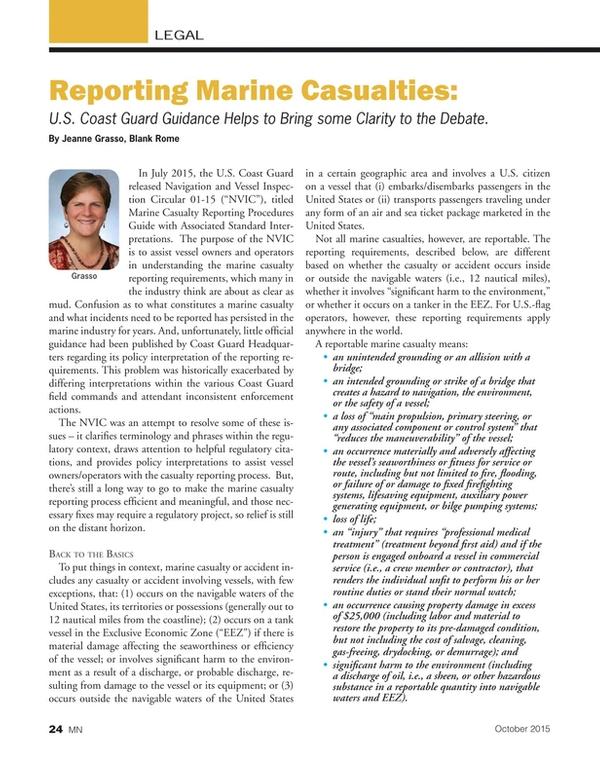 Marine News Magazine, page 24,  Oct 2015