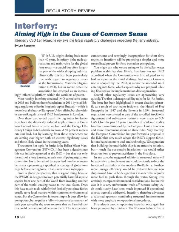 Marine News Magazine, page 18,  Jan 2016