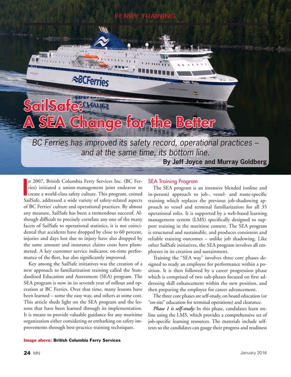Marine News Magazine, page 24,  Jan 2016