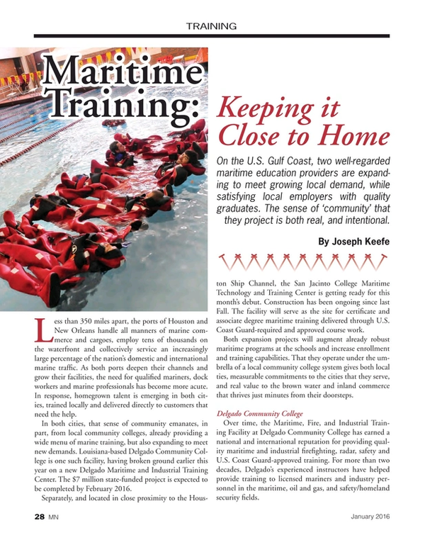 Marine News Magazine, page 28,  Jan 2016