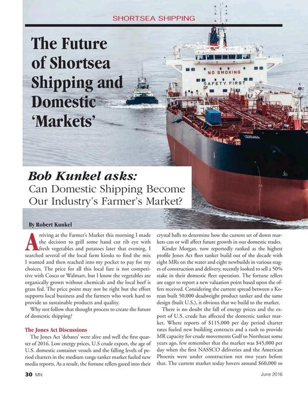 Marine News Magazine, page 30,  Jun 2016