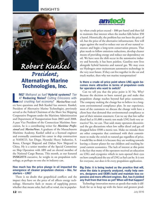 Marine News Magazine, page 12,  Jul 2016