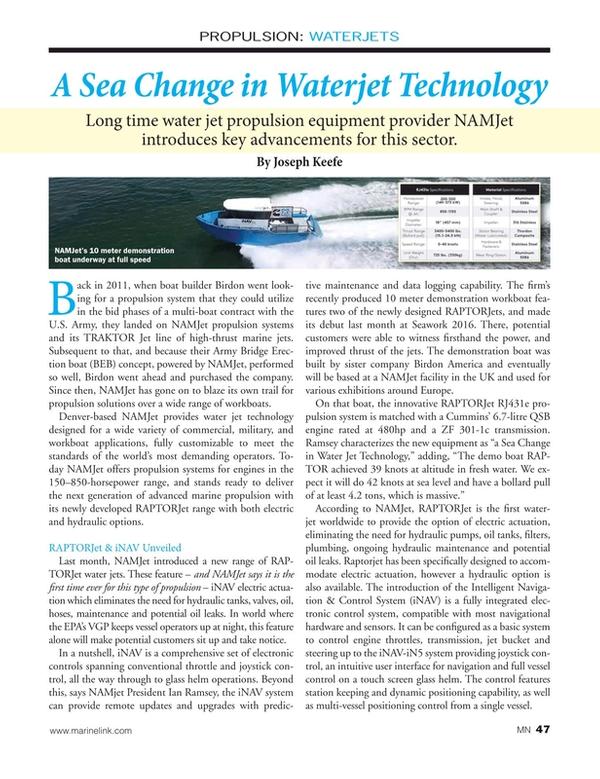 Marine News Magazine, page 47,  Jul 2016