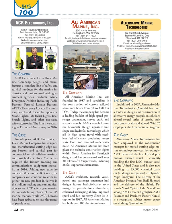 Marine News Magazine, page 12,  Aug 2016