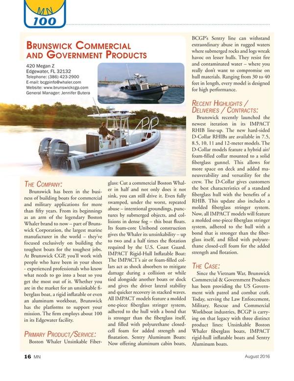 Marine News Magazine, page 16,  Aug 2016