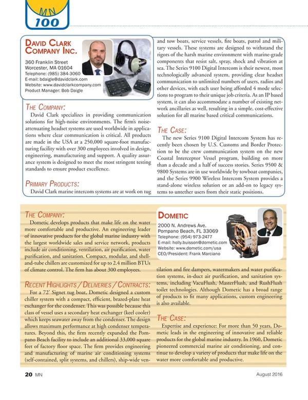 Marine News Magazine, page 20,  Aug 2016