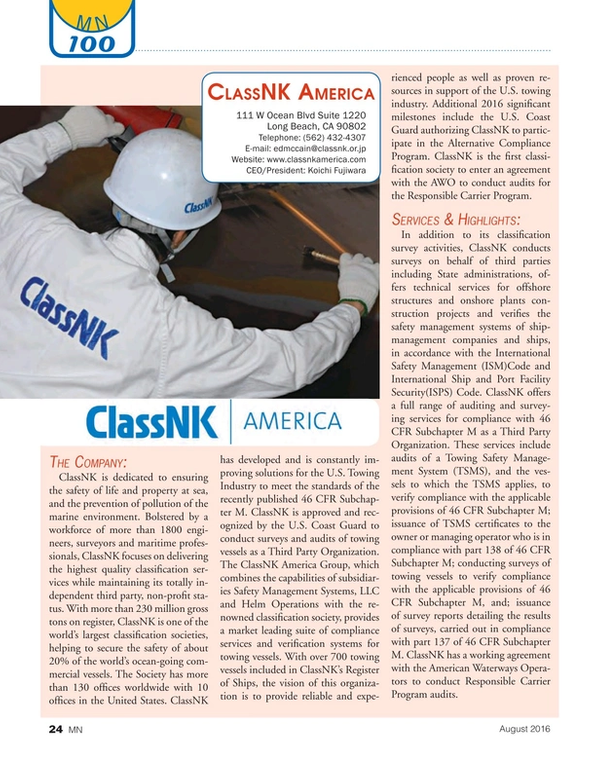Marine News Magazine, page 24,  Aug 2016