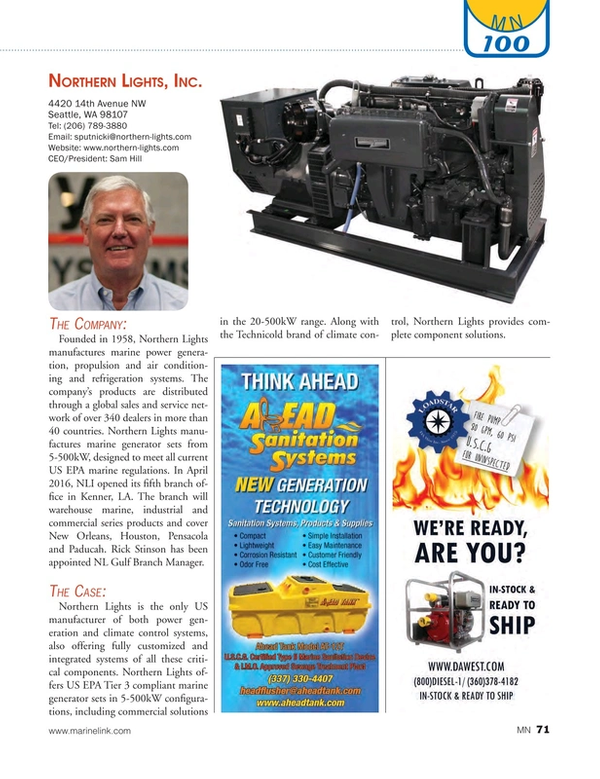 Marine News Magazine, page 71,  Aug 2016